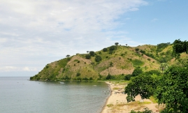 View over the charming Rwarwe village at the shore of lake Malawi. This is deepest part of the lake.
