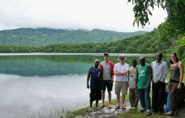 Sampling crew at the shore of lake Massoko in southern Tanzania, where we collected dozens of A. calliptera individuals for genome wide association studies.